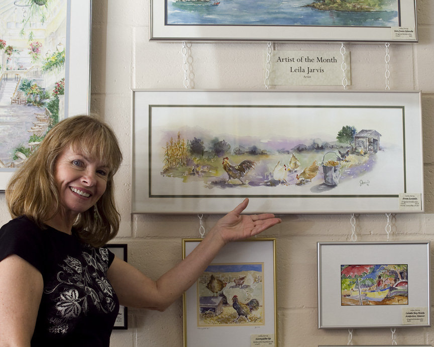Leila Jarvis' watercolor artwork is available only at the Purple Easel Gallery in Salmon, Idaho and here on this website.